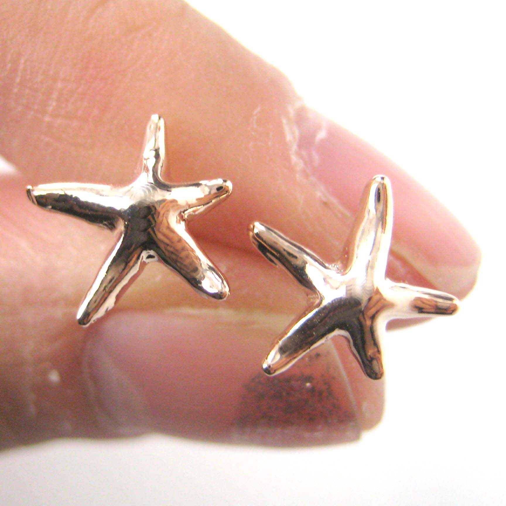 s macys metallic yellow women macy stud jewelry earrings patterned starfish in designer lyst gold