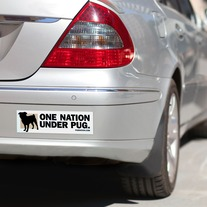 One Nation Under Pug :: Large Sticker