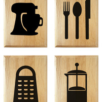 Kitchen Decor Plaque Set