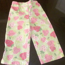 Green Strawberry Capris-Gymboree Size 5