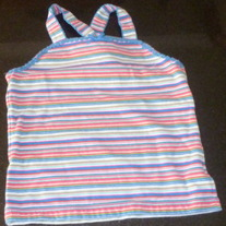 Multi Stripe Criss Cross Tank-The Childrens Place Size 5/6