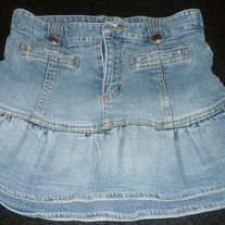 Denim Skirt with Built in Shorts-The Children's Place Size 12