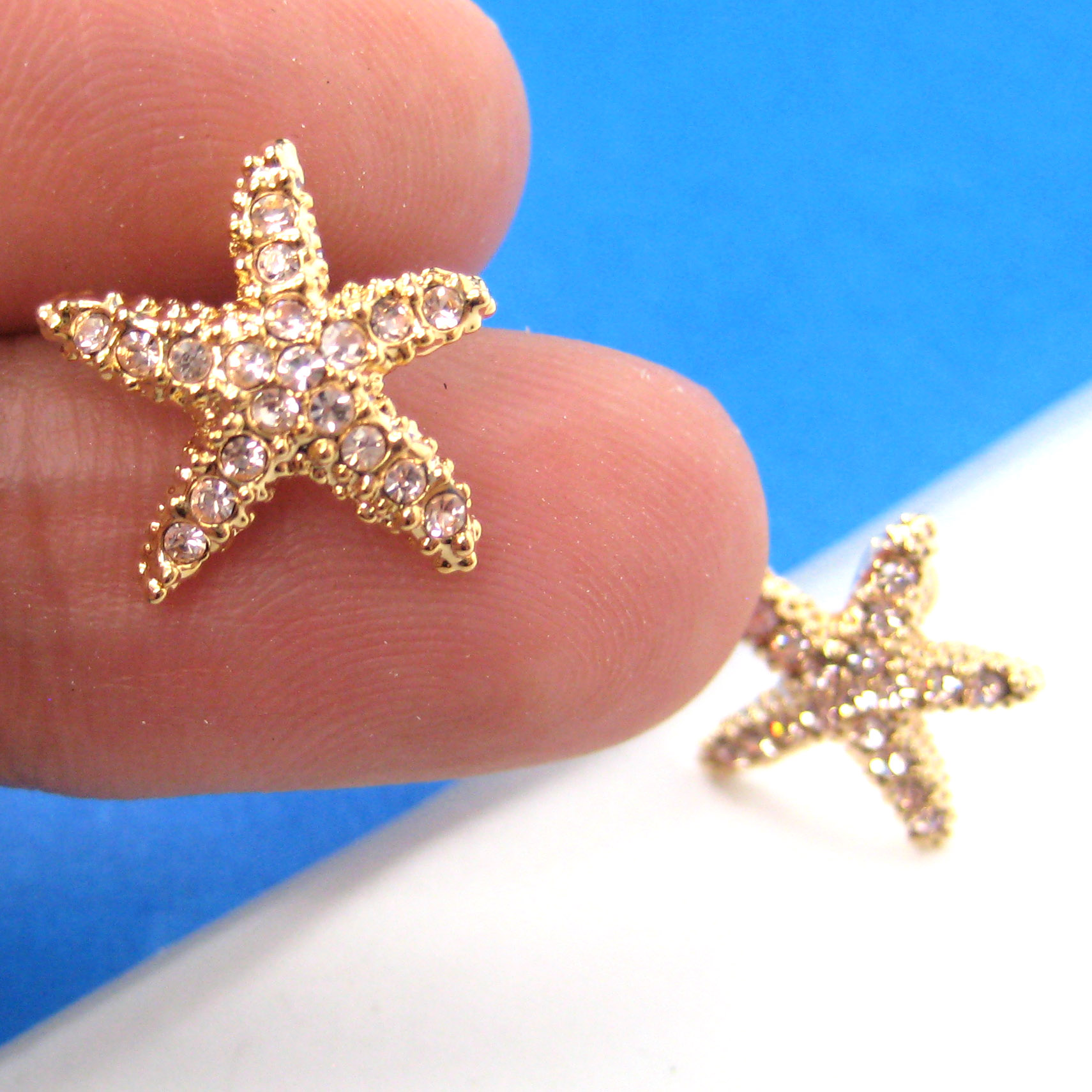 earrings online gold stud shaped jewellery jewellers carat star yellow cz earring