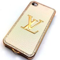 White Leather LV Case (iPhone 4 4s)