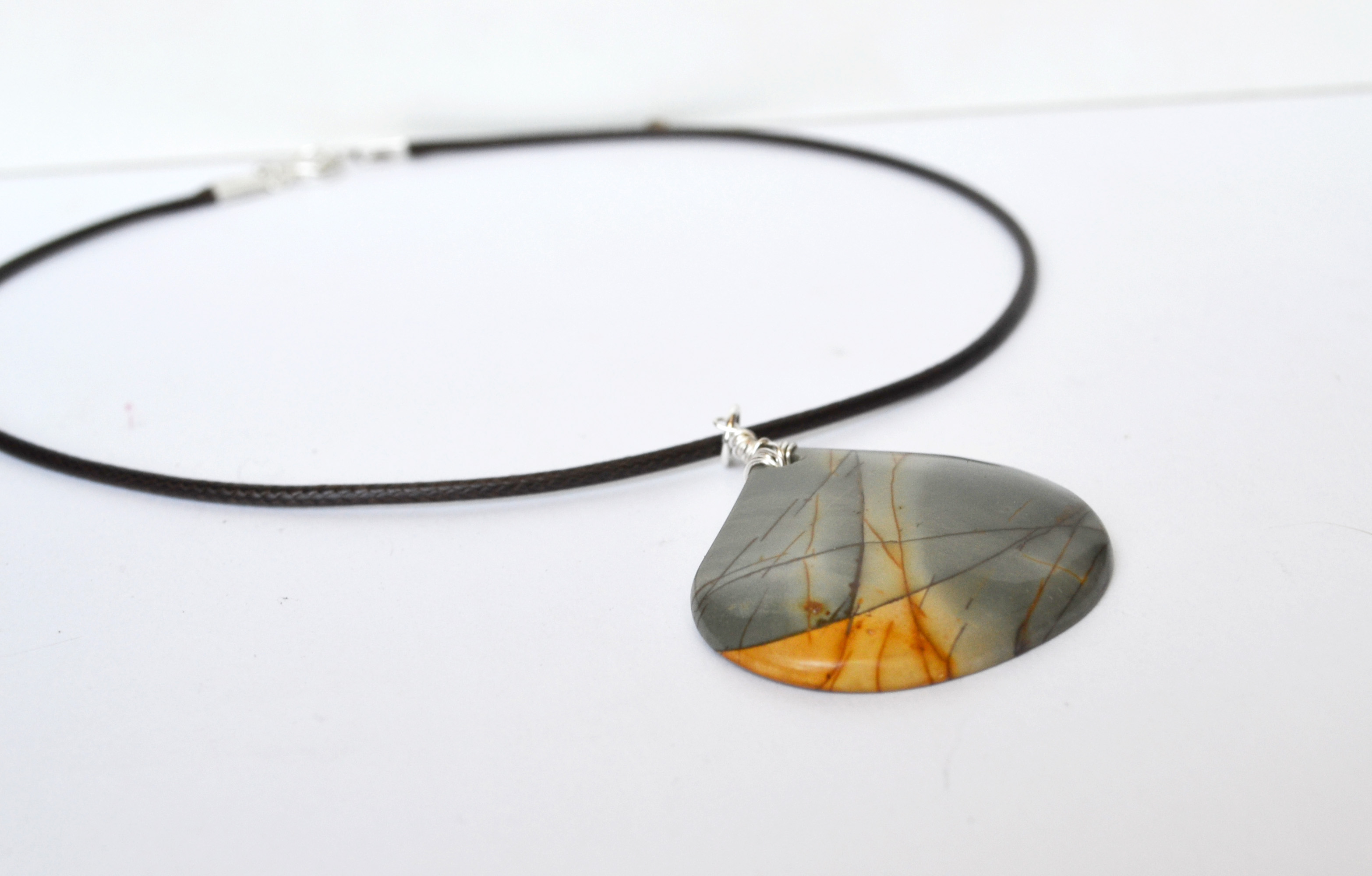 jewelry handmade product jasper rare necklace rocky butte