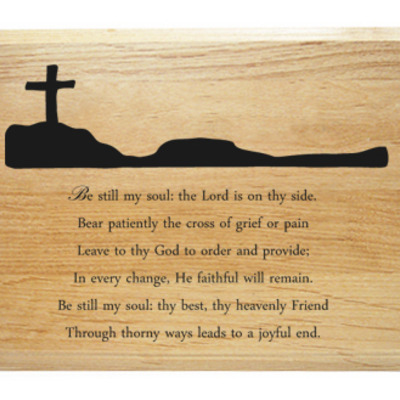 Be still my soul hymn plaque