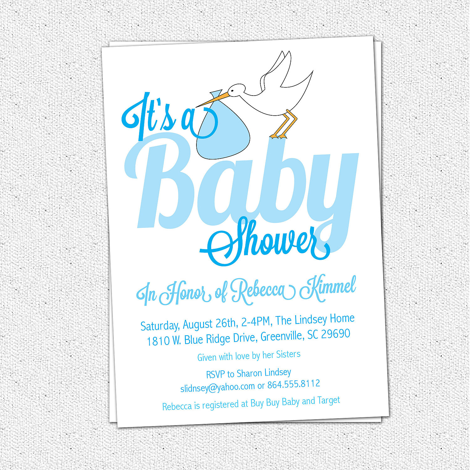 Stork baby boy shower invitation its a baby shower blue modern stork baby boy shower invitation its a baby shower blue modern calligraphy handwriting filmwisefo