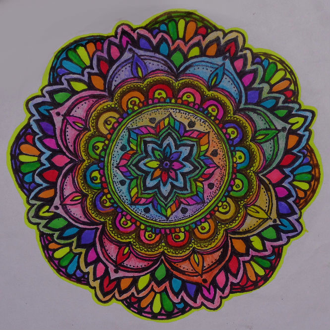 Flower Neon Mandala Sticker Online Store Powered By