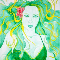 Becca Mermaid - Original Watercolour Painting