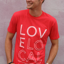 """Love Local"" - Unisex Red Crewneck"