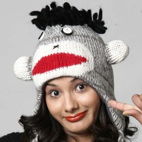 Black Sock Monkey Hat