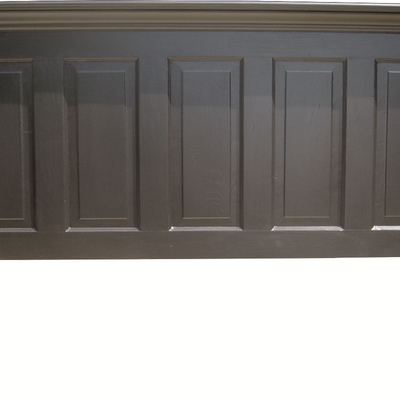 5 panel onyx black king size headboard with legs