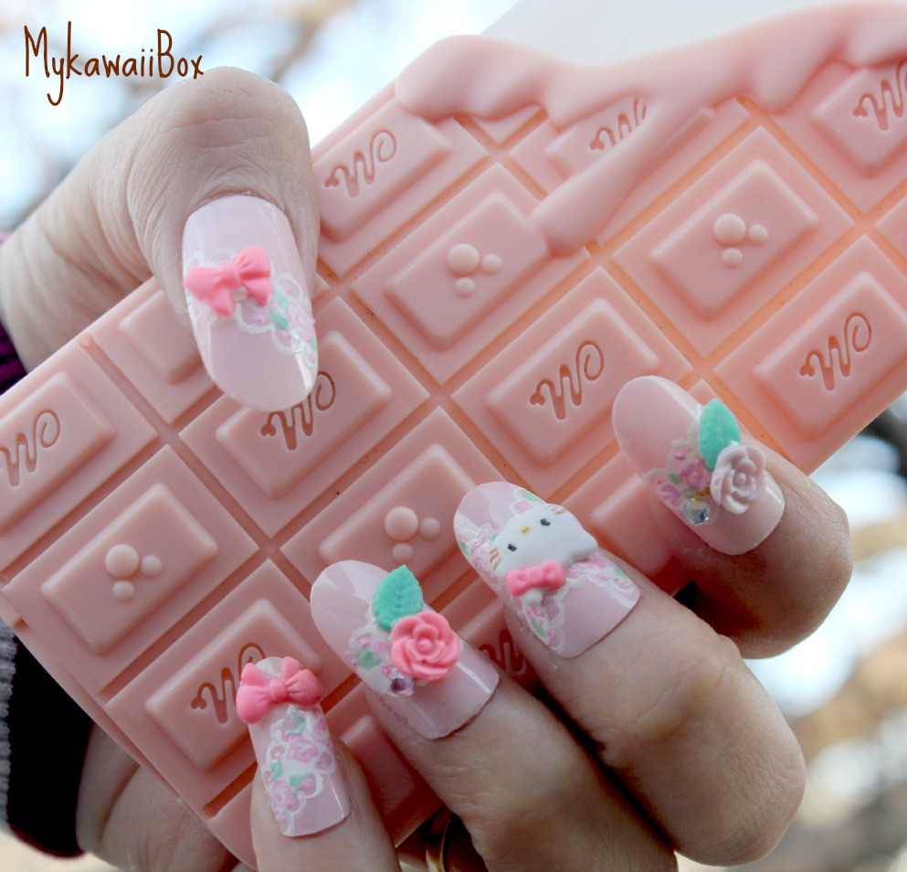 Pink Oval Nails