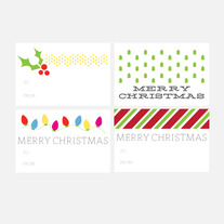 christmas gift tags | set one