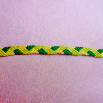 Green Plaited Braided Friendship Bracelet