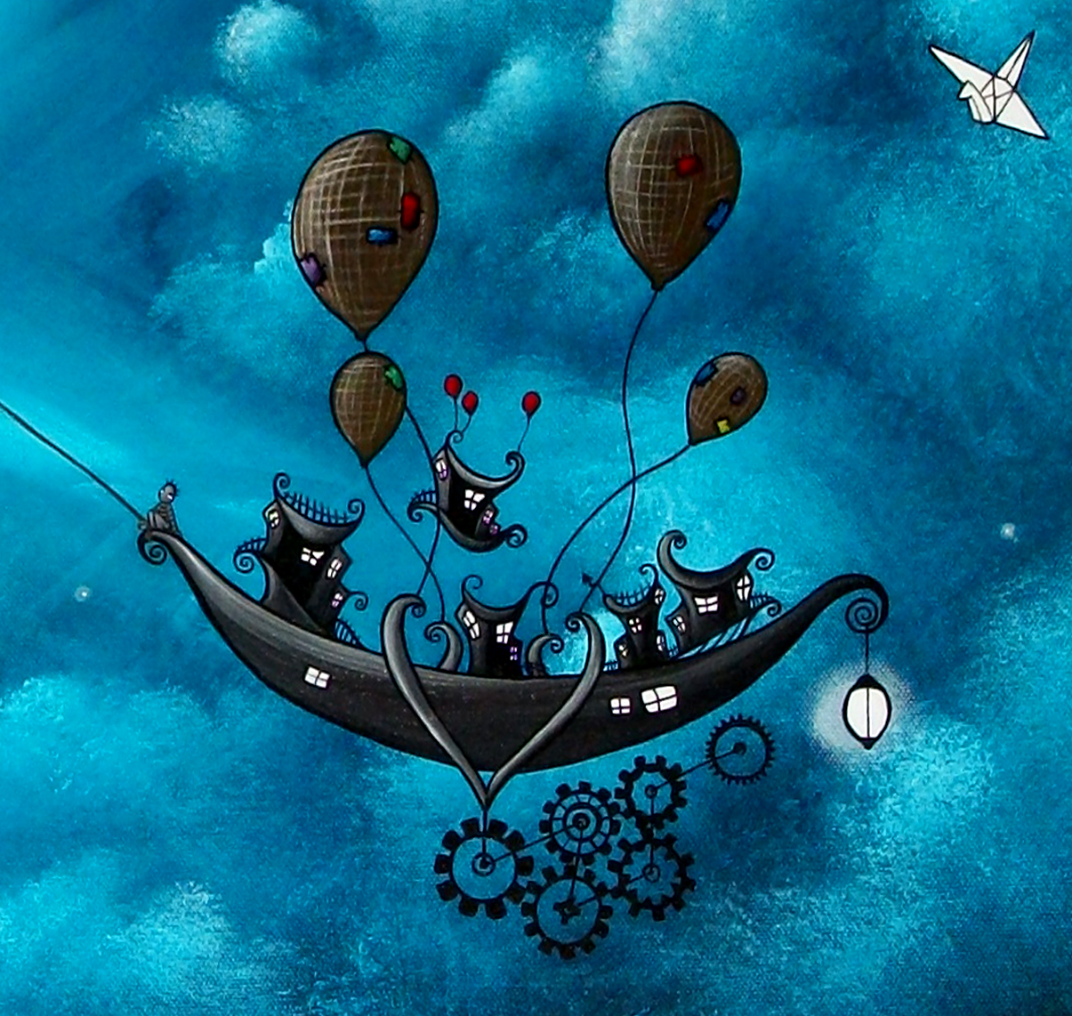 Fantasy Art Painting Original Fairytale Night Thief By