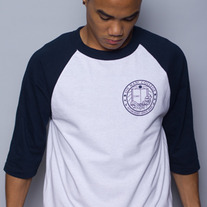 The Oh Man! College Baseball Tee in Navy