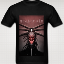 """MEATBRAIN"" T Shirt for Men (Black)"