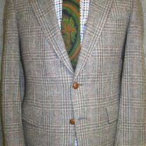 Donald Brooks Plaid Tweed Sport Coat - 40R