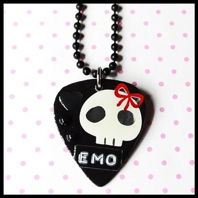 Lick your pick she loves emo diy necklace charm