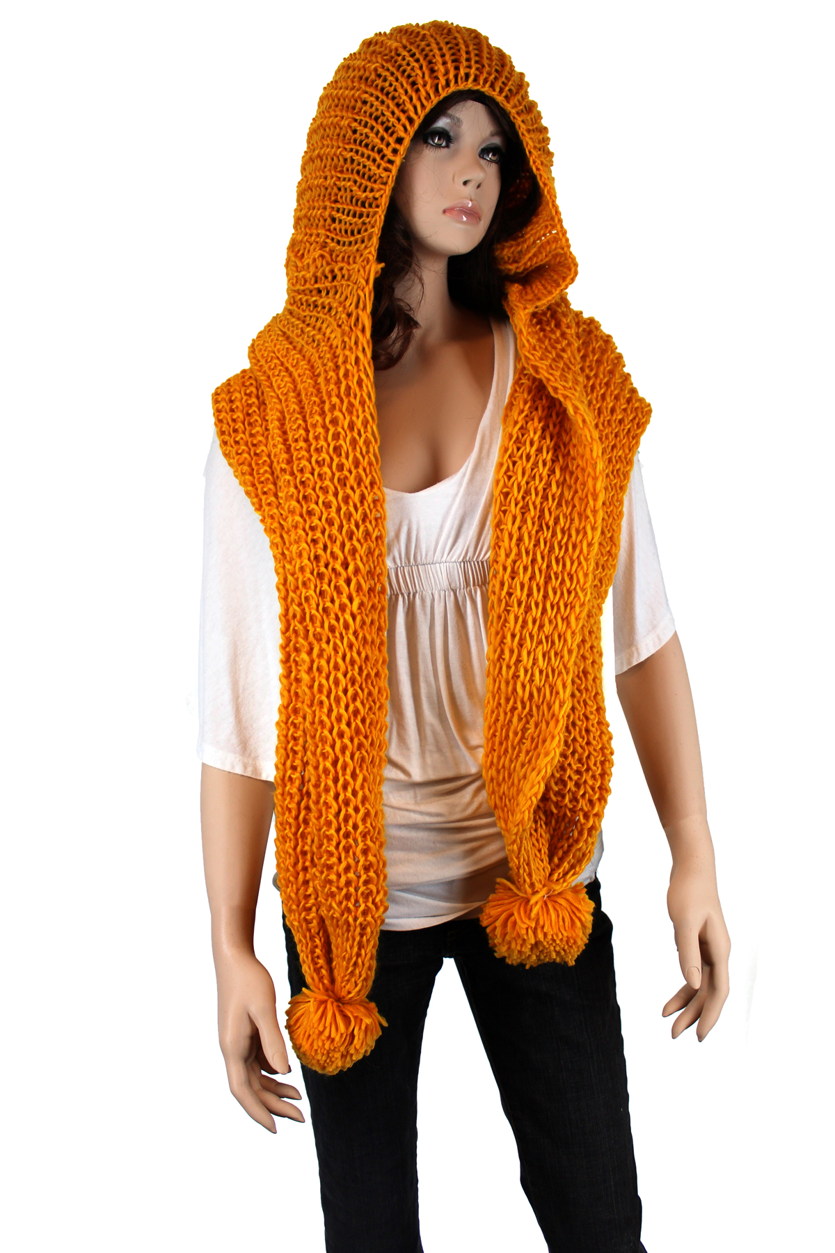 One Skein Knitting Pattern : Yellow Knit Scarf images