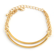 Gold Double Chain Bracelet