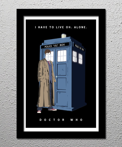 Doctor Who 10th Dr David Tennant Tardis Poster 1st