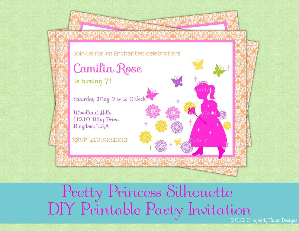 J & G Design Studio | Princess or Fairy Birthday Digital Party ...