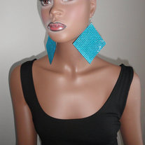 Blue Panel Earrings***FREE SHIPPING