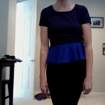 Dark/Cobalt Blue Blouse
