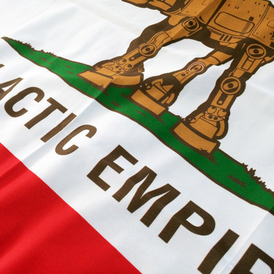 3ft' x 2ft'  galactic empire flag (california colorway)
