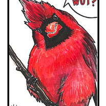 Tiny Birds - Cardinal (Original Watercolor Painting)