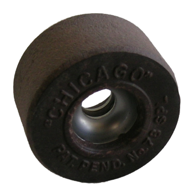 Chicago stone roller skate wheels - vintage & resurfaced