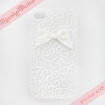 Pretty Glitter Swirls iPhone 4/4S Case