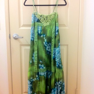 Free People Moss Green Floral Maxi Dress   Thumbnail 3