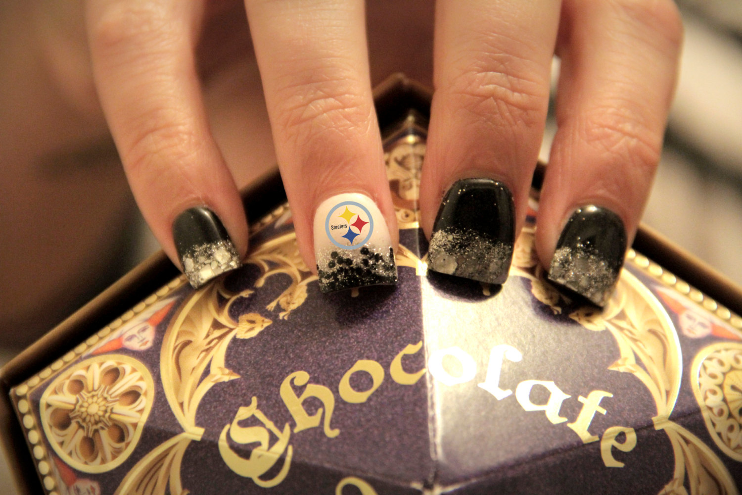 Steelers Nail Art Decals ~ Steelers nails party and gift ideas ...
