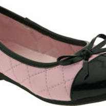L'amour Quilted Mary Jane Pink flat