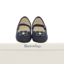 Hartstrings Denim Flower Flat