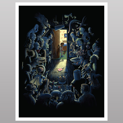 Be Afraid of the Dark (print)