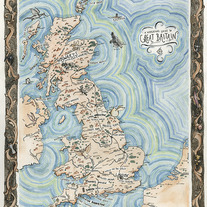 A Wizarding Guide to Great Britain Map