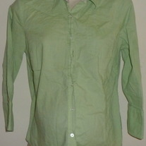Green Shirt with Collar/Buttons-Motherhood Maternity Size Medium