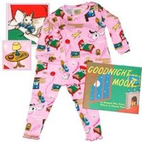 Books To Bed- Girls Goodnight Moon PJ & Book Set