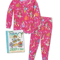 Books To Bed- Girls Fancy Nancy PJ & Book set