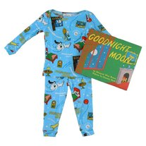 Books to Bed- Boys Goodnight Moon PJ& Book set