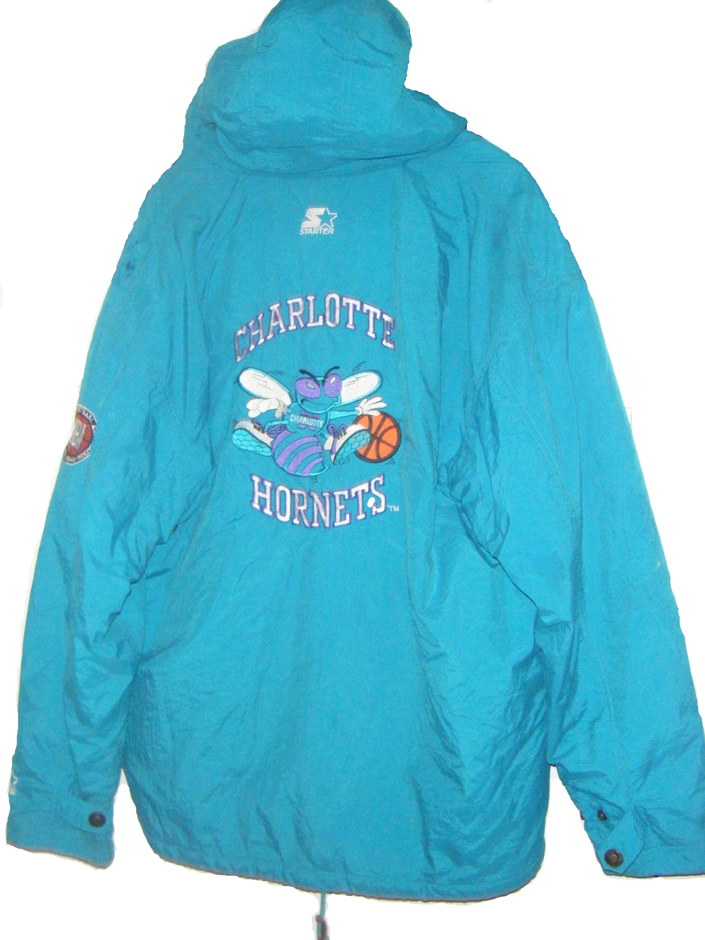 charlotte hornets starter jacket vintage hot girls wallpaper. Black Bedroom Furniture Sets. Home Design Ideas