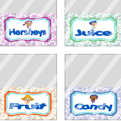 Bubble guppies birthday party food tent cards labels  sc 1 st  Kritts Kreations - Storenvy & Printable Food Tent Cards · Kritts Kreations · Online Store ...