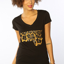 The DB Animal Print Logo T-Shirt in Black