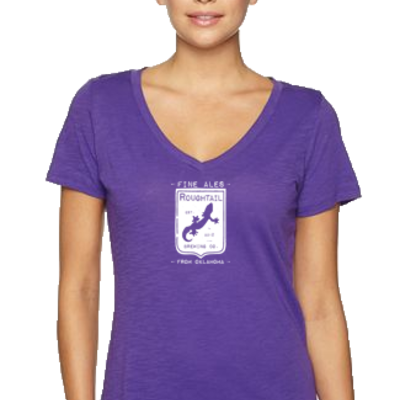 Women's purple shield shirt