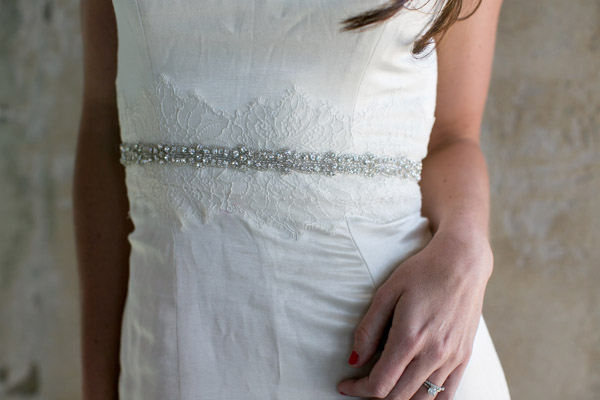 Thin Rhinestone Wedding Sash Bridal Belt - 1\