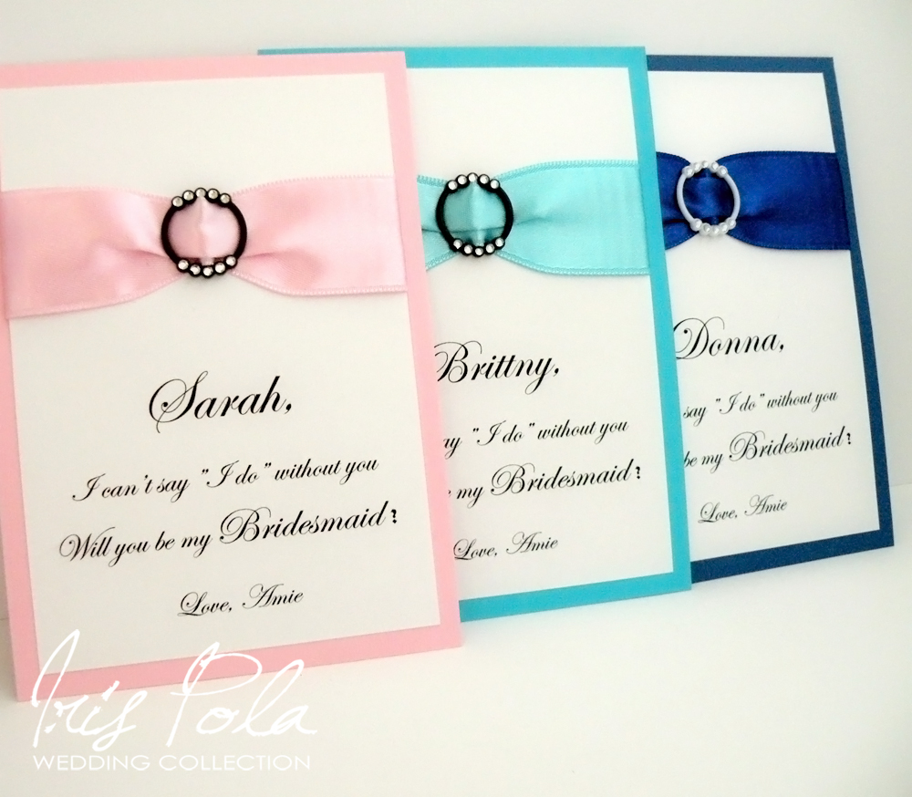 Will you be my Bridesmaid, Wedding, Favor, Ribbon, Blue, Pink ...